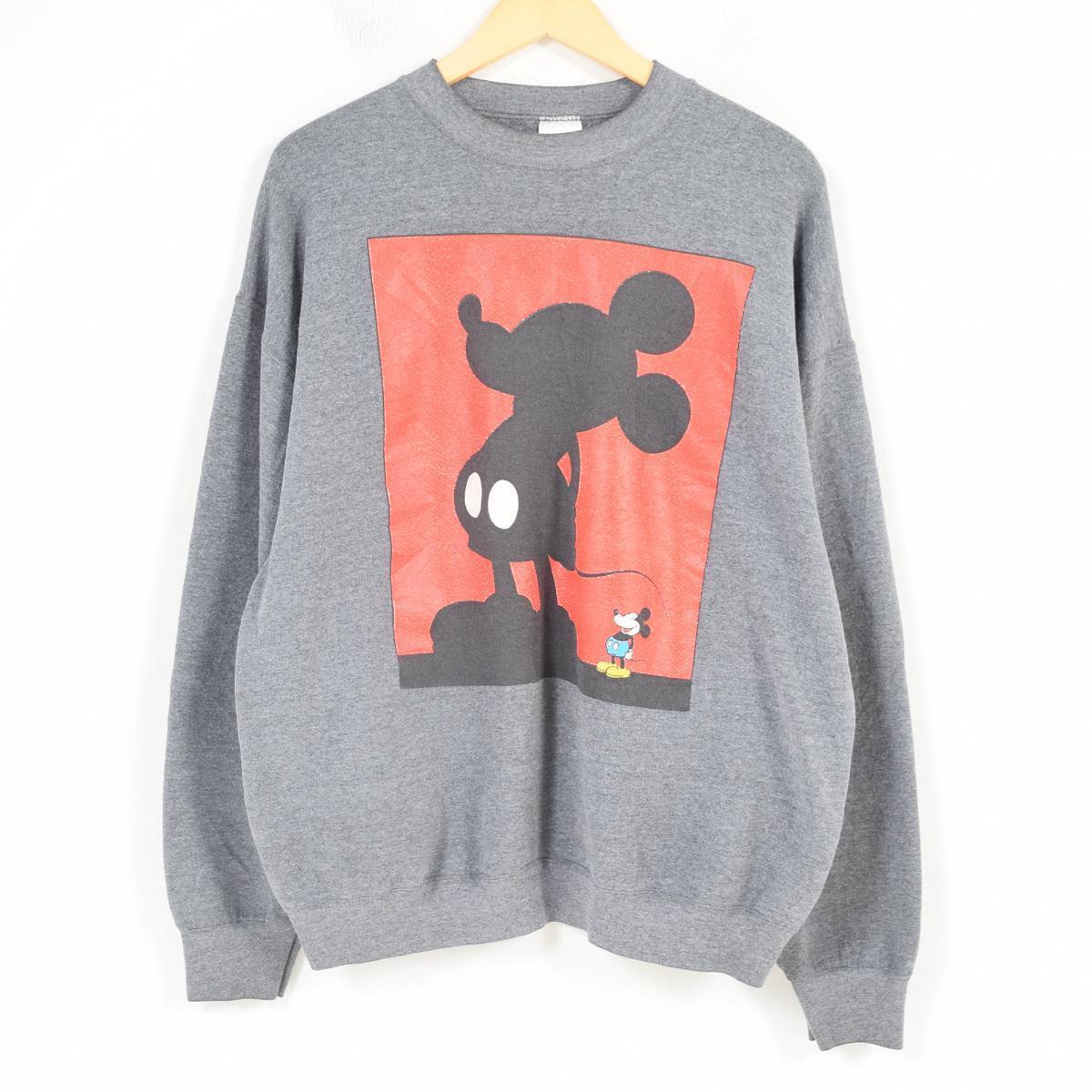 MICKEY&CO. MICKEY MOUSE ミッキーマウス キャラクタースウェットシャツ トレーナー USA製 レディースXL /waq4500 【中古】 【180408】