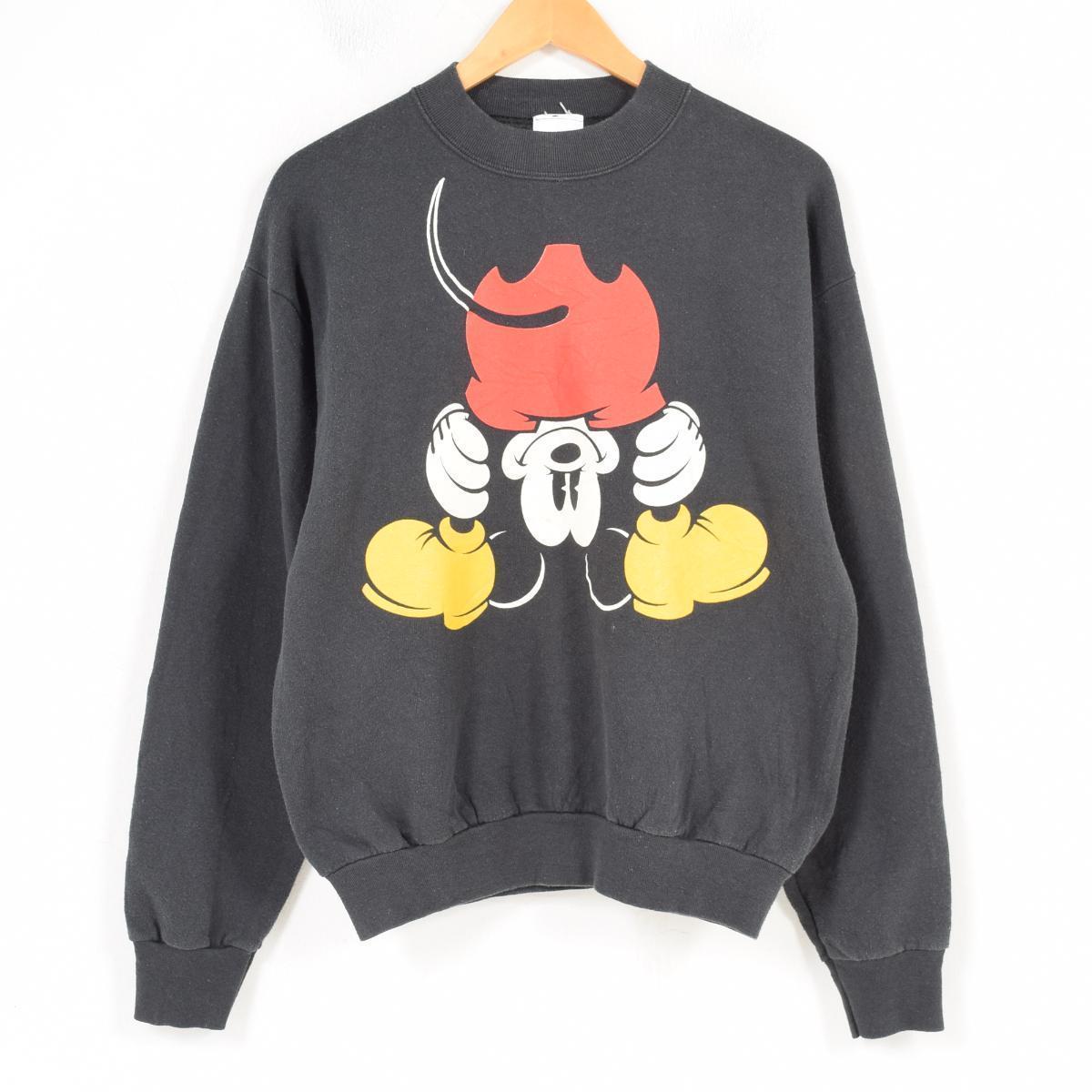 MICKEY&CO. MICKEY MOUSE ミッキーマウス キャラクタースウェットシャツ トレーナー USA製 レディースXL /waq4735 【中古】 【180413】