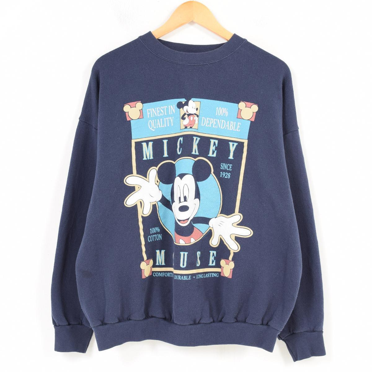 MICKEY UNLIMITED MICKEY MOUSE ミッキーマウス キャラクタースウェットシャツ トレーナー USA製 レディースXL /waq4736 【中古】 【180413】