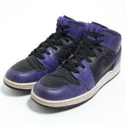 耐吉NIKE AIR JORDAN 1 MID運動鞋US4.5Y女士23.5cm/bom3964