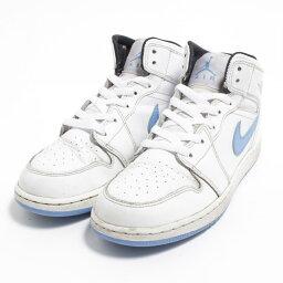 耐吉NIKE AIR JORDAN 1 MID運動鞋US5Y女士23.5cm/bom3728