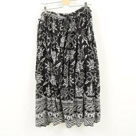 SHORT CIRCUIT インド綿 花柄 コットン ロング ギャザースカート フリーサイズ 春夏スカート/war1732 【中古】 【180423】【SS1909】
