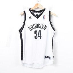 愛迪達adidas NBA BROOKLYN NETS布魯克林網絡桿皮爾克遊戲襯衫復製品制服人L/was3028
