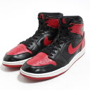 ナイキ NIKE AIR JORDAN 1 RETRO HIGH OG BLACK/VARSITY RED-WHITE スニーカー US11 メンズ29.0cm /bom8093 【中古】 【180505】