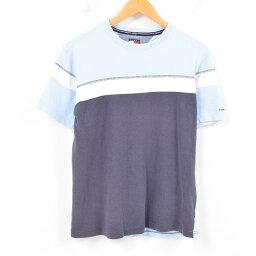 90年代tomihirufiga TOMMY HILFIGER JEANS一點標識T恤人S/war9481[中古][180511]