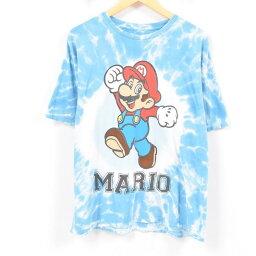 SUPER MARIO supamariotaidai花紋人物印刷T恤人XL/war9510[中古][180521]