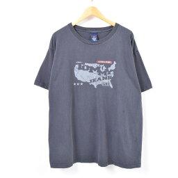tomihirufiga TOMMY HILFIGER JEANS標識T恤USA製造人XL/was2017[中古][180518]