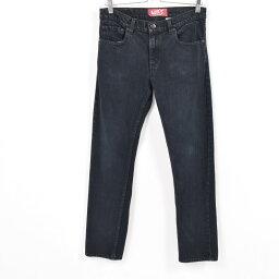 李維斯Levis 511緊身的牛仔褲黑色牛仔褲女士XL(w31)/war9990[中古][180518]