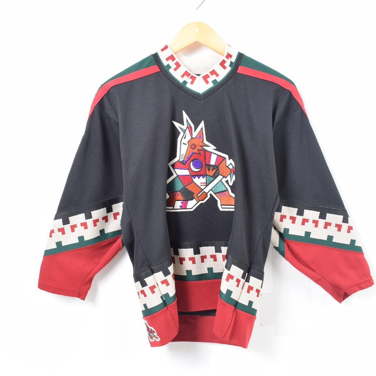 CCM NHL PHOENIX COYOTES フェニックスコヨーテズ ゲームシャツ レプリカユニフォーム カナダ製 メンズS /waq7214 【中古】【古着屋JAM】 【180622】
