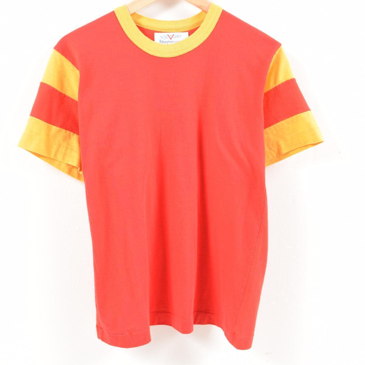 ~80年代 VICTORY BY SHAFCO PHOENIX 袖切替 無地Tシャツ レディースM ヴィンテージ /was7083 【中古】【古着屋JAM】 【180612】