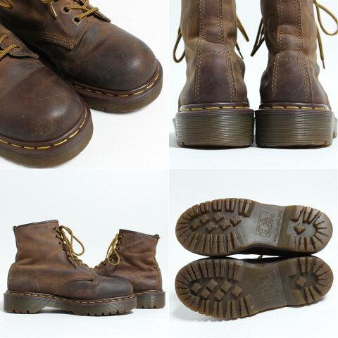 ドクターマーチンDr.Martens8ホールブーツ英国製UK6レディース24.5cm/bon1056【中古】【180623】