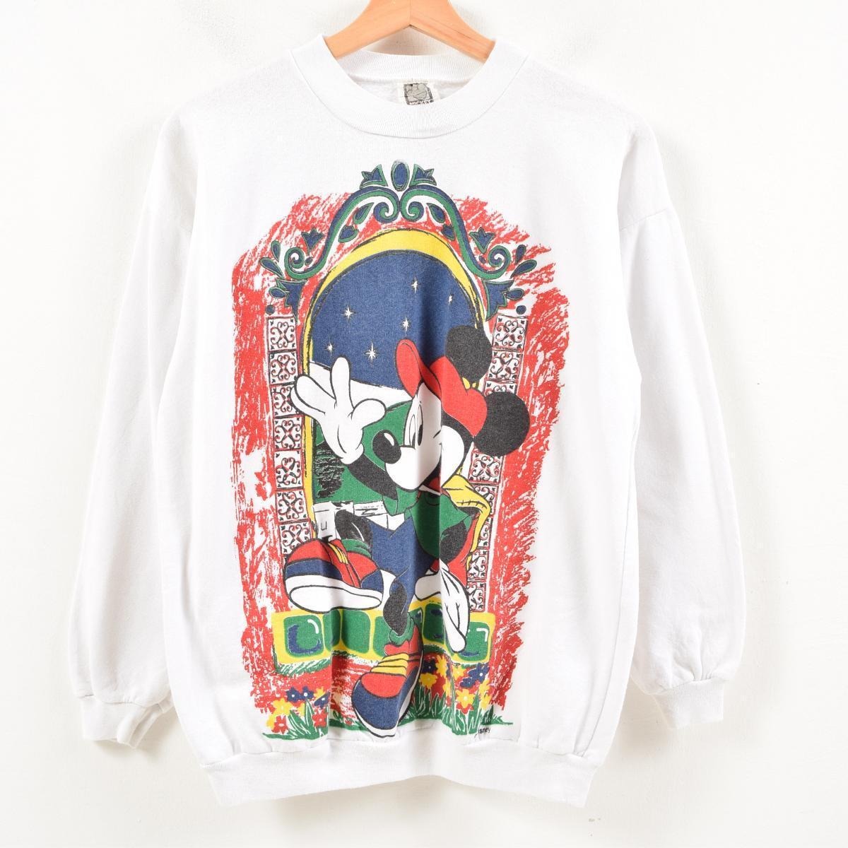 MICKEY UNLIMITED MICKEY MOUSE ミッキーマウス キャラクタースウェットシャツ トレーナー カナダ製 レディースXL /was5929 【中古】 【180721】