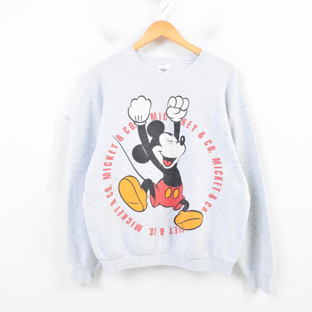 Mickey & Co. MICKEY MOUSE ミッキーマウス キャラクタースウェットシャツ トレーナー レディースXL /was3691 【中古】 【180720】