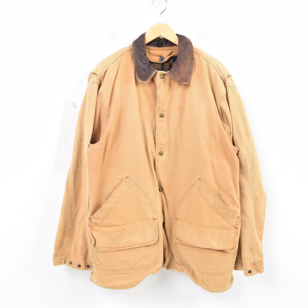 90年代 ウールリッチ WOOLRICH ダック地ハンティングジャケット USA製 メンズXL /wau1028 【中古】 【180730】