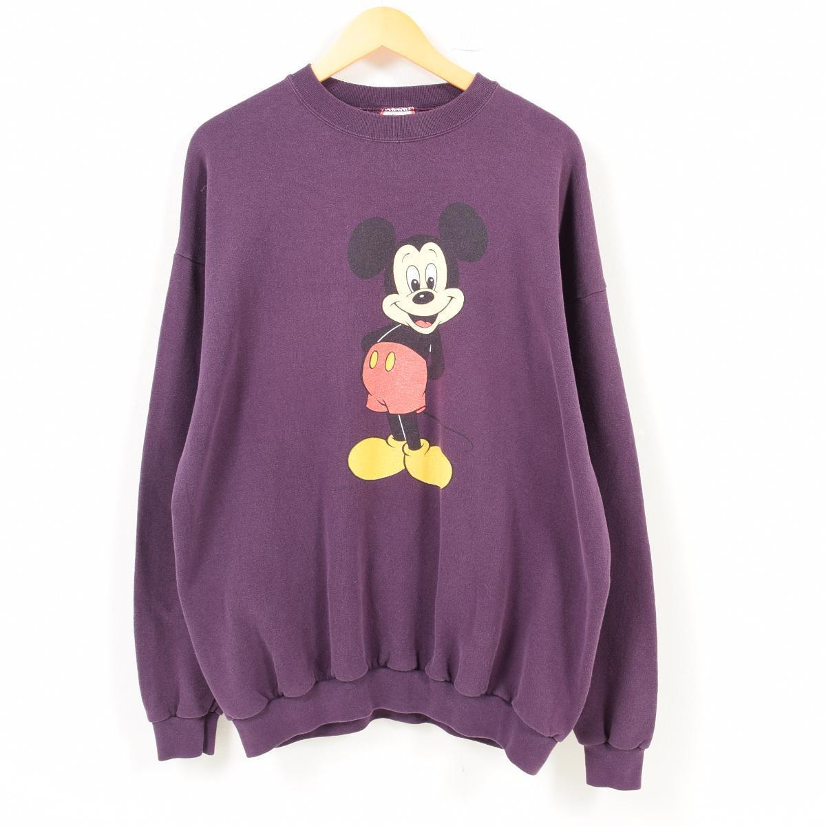 DISNEY DESIGNS MICKEY MOUSE ミッキーマウス キャラクタースウェットシャツ トレーナー USA製 フリーサイズ /wat7544 【中古】 【180814】