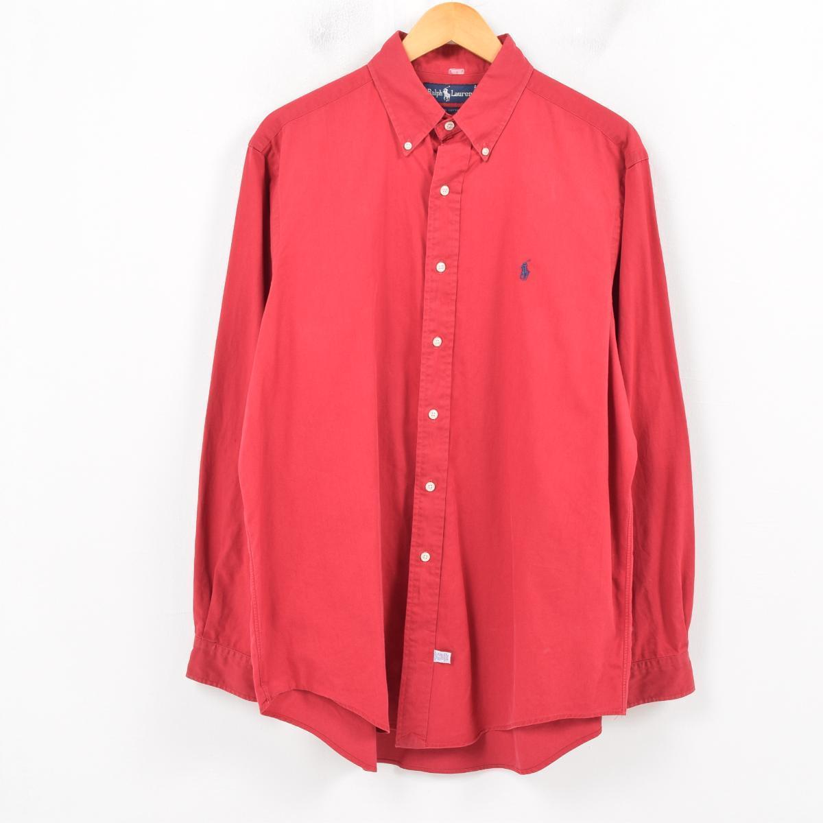 ラルフローレン Ralph Lauren 長袖 ボタンダウンシャツ メンズL /wav0437 【中古】 【181009】