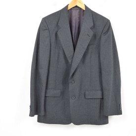クリスチャンディオール Christian Dior MONSIEUR ピンストライプ ウールテーラードジャケット USA製 メンズL /wav1093 【中古】 【181018】【PD191018】