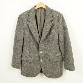 70年代 ハリスツイード Harris Tweed ヘリンボーン ウールテーラードジャケット USA製 メンズXS ヴィンテージ /wav2469 【中古】 【181030】