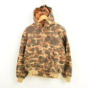 528127807e25c Model duck hunter duck camouflage active jacket duck place full zip parka  men S vintage /wax1127 of the 100th anniversary of car heart Carhartt in  the 80s