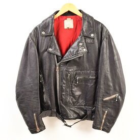 60年代 ルイスレザー Lewis Leathers BRONX ブロンクス AVIAKIT ロンジャン セミダブルライダースジャケット 英国製 46 メンズL ヴィンテージ /wbb3892 【中古】 【190110】【TS1911】