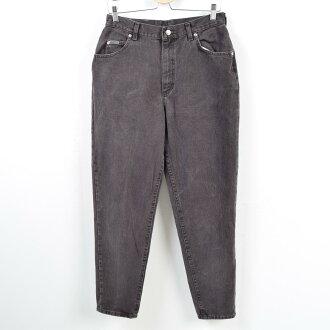 80s Lee Lee RIVETED black jeans tapered denim underwear Lady's L(w30) vintage /wbb2271
