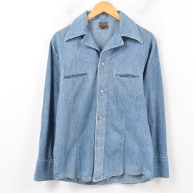 70年代 BIG YANK デニムシャツジャケット メンズM ヴィンテージ /wbb1622 【中古】 【190203】【SP10】
