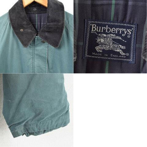 バーバリーBurberry'sコーデュロイ襟ハーフコート英国製レディースL/wba4478【中古】【190218】