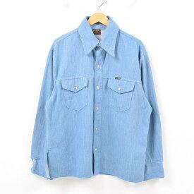 70年代 ビッグヤンク BIG YANK デニムシャツジャケット メンズL ヴィンテージ /wbb0987 【中古】 【190214】【SP10】