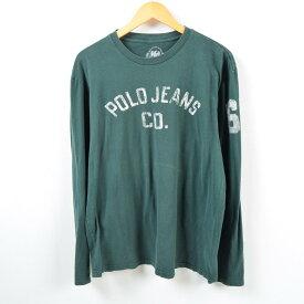 ラルフローレン Ralph Lauren POLO JEANS COMPANY ナンバリング ロングTシャツ ロンT メンズL /wbc9458 【中古】 【190223】