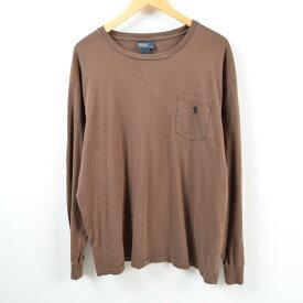ラルフローレン Ralph Lauren POLO by Ralph Lauren ポケットTシャツ ロンT メンズXXL /wbc9462 【中古】 【190223】