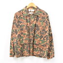 c5b86e1bd3f1c 60s ~ GAME WINNER duck hunter duck camouflage hunting jacket men M vintage  /wbb0428