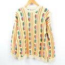 SWEATER CLOTHES クージー風 アクリルニットセーター USA製 メンズL /wbc9044 【中古】 【190226】【SP10】【TS1911】…
