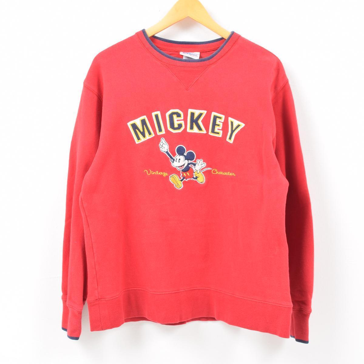 DISNEYLAND RESORT MICKEY MOUSE ミッキーマウス キャラクタースウェットシャツ トレーナー レディースL /wbc5863 【中古】 【190322】