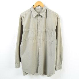 90年代 ゲス Guess JEANS 長袖 カラーデニムシャツ USA製 メンズL /wbd1867 【中古】 【190322】