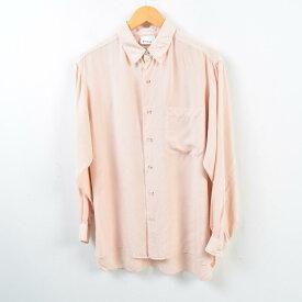 長袖 シルクシャツ 2 メンズM /wbc7062 【中古】 【190330】【TS1911】