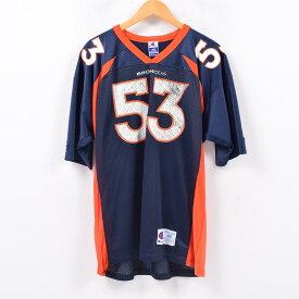 90年代 チャンピオン Champion NFL DENVER BRONCOS デンバーブロンコス メッシュ ゲームシャツ レプリカユニフォーム メンズXL /wbd3891 【中古】 【190401】