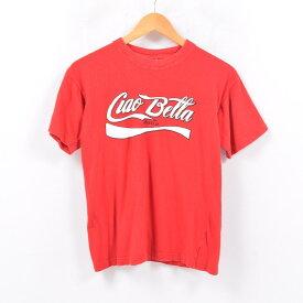 COCA-COLA Italia コカコーラ アドバタイジングTシャツ レディースS /wbd2651 【中古】 【190414】