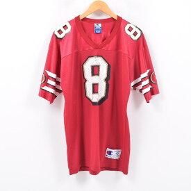 90年代 チャンピオン Champion NFL SAN FRANCISCO 49ERS サンフランシスコフォーティナイナーズ ゲームシャツ フットボールシャツ 40 メンズXL /wbd2618 【中古】 【190418】
