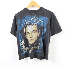 90年代 LEONARDO DICAPRIO レオナルドディカプリオ 人物Tシャツ メンズS /wbb4781 【中古】【N1905】 【190413】
