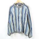 90年代 クージー COOGI 総柄 ウールニットセーター オーストラリア製 メンズXL /wbb4698 【中古】【N1905】 【190413】
