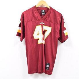 リーボック Reebok NFL WASHINGTON REDSKINS ワシントンレッドスキンズ ゲームシャツ レプリカユニフォーム メンズL /wbd9385 【中古】 【190421】【SS1909】