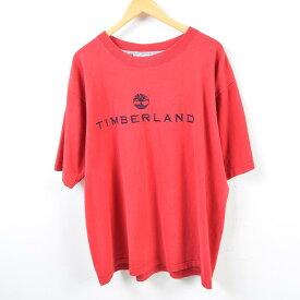 ティンバーランド Timberland ロゴプリントTシャツ USA製 メンズXL /wbd5599 【中古】 【190420】