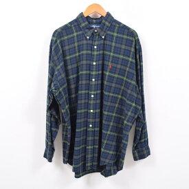 ラルフローレン Ralph Lauren タータンチェック 長袖 ボタンダウン ライトネルシャツ メンズXL /wbd8759 【中古】 【190427】【PD2001】【CS2003】【【SS2003】】