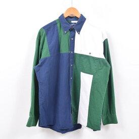 90年代 ラングラー Wrangler WESTERN SHIRTS クレイジーパターン 長袖 ボタンダウンシャツ メンズXL /wbd8148 【中古】 【190427】
