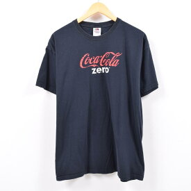 フルーツオブザルーム FRUIT OF THE LOOM COCA-COLA ZERO コカコーラゼロ アドバタイジングTシャツ メンズXL /wbb9839 【中古】 【190502】