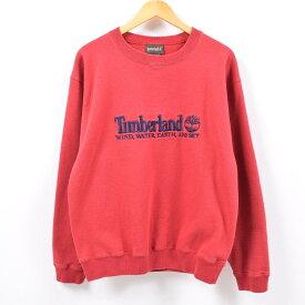 90年代 ティンバーランド Timberland ロゴスウェット トレーナー USA製 レディースXL /wbb9767 【中古】 【190503】