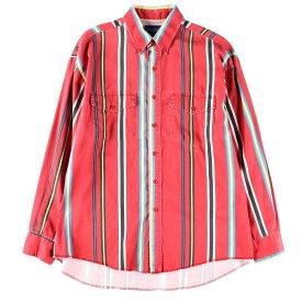 ラングラー Wrangler 長袖 ボタンダウンストライプシャツ メンズXL /wbb6661 【中古】 【190509】