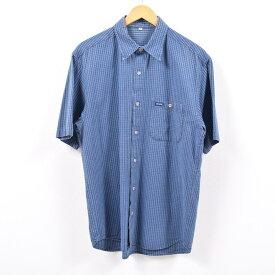 90年代 ゲス Guess 半袖 コットン チェックシャツ USA製 メンズM /wbb8749 【中古】 【190514】【SS1909】