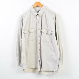 90年代 ギャップ GAP オールドギャップ 長袖 ボタンダウンシャツ メンズXL /wbd6240 【中古】 【190516】