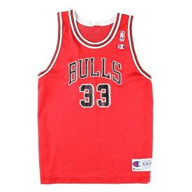 90年代 チャンピオン Champion NBA CHICAGOBULLS シカゴブルズ Scottie Pippen スコッティピッペン ゲームシャツ レプリカユニフォーム レディースL /wbe1696 【中古】 【190523】【CS2001】